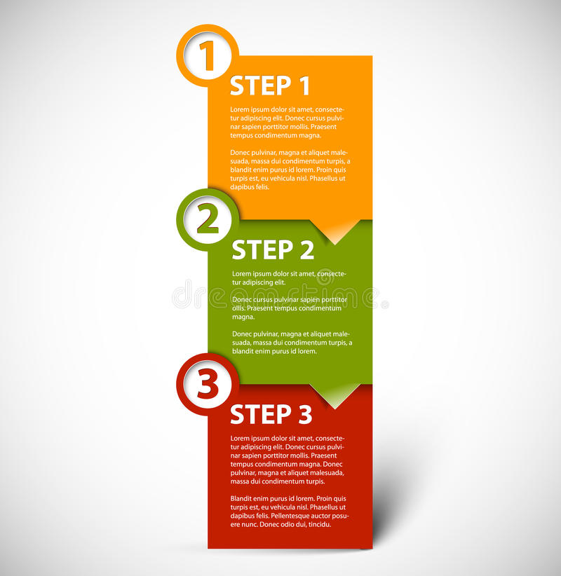 Free One Two Three - Vector Paper Steps Royalty Free Stock Image - 26437096