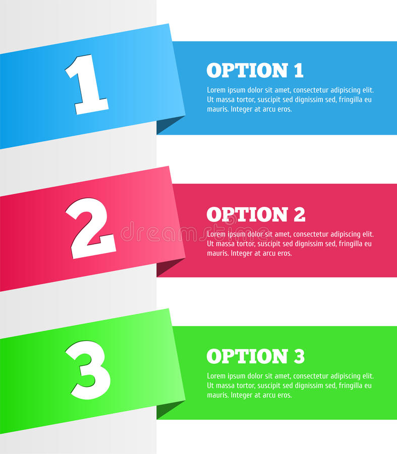 Download One Two Three - Vector Progress Steps Stock Vector - Illustration of offer, banner: 37550529