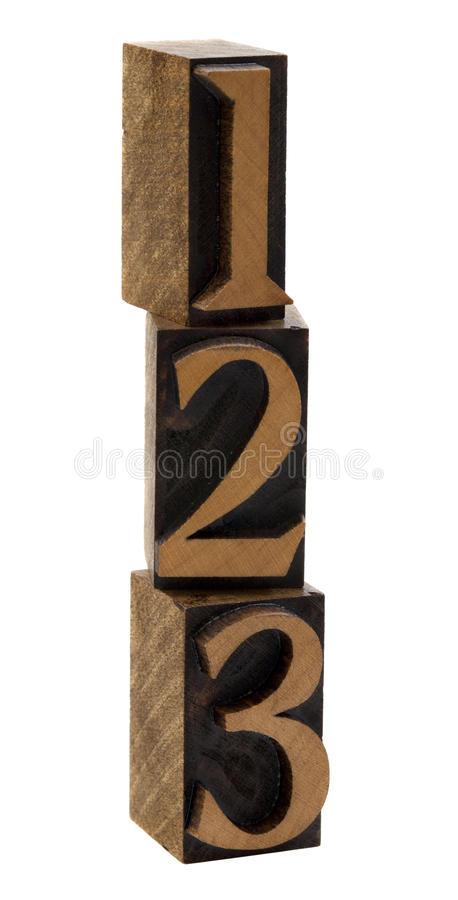 Download One, Two, Three Wood Numbers Stock Image - Image: 13785925