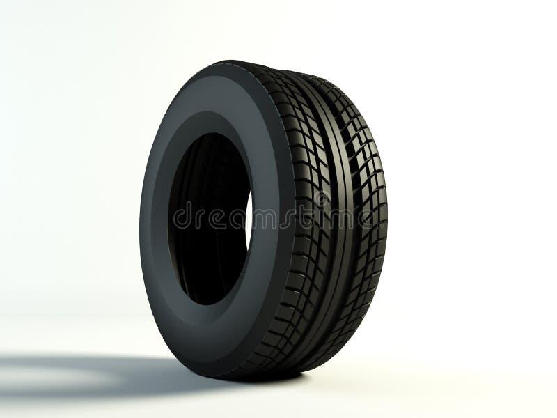 One tyre. Brand new tyre, 3d rendering of car wheel
