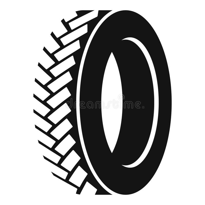 One tyre icon, simple style. One tyre icon. Simple illustration of one tyre vector icon for web royalty free illustration