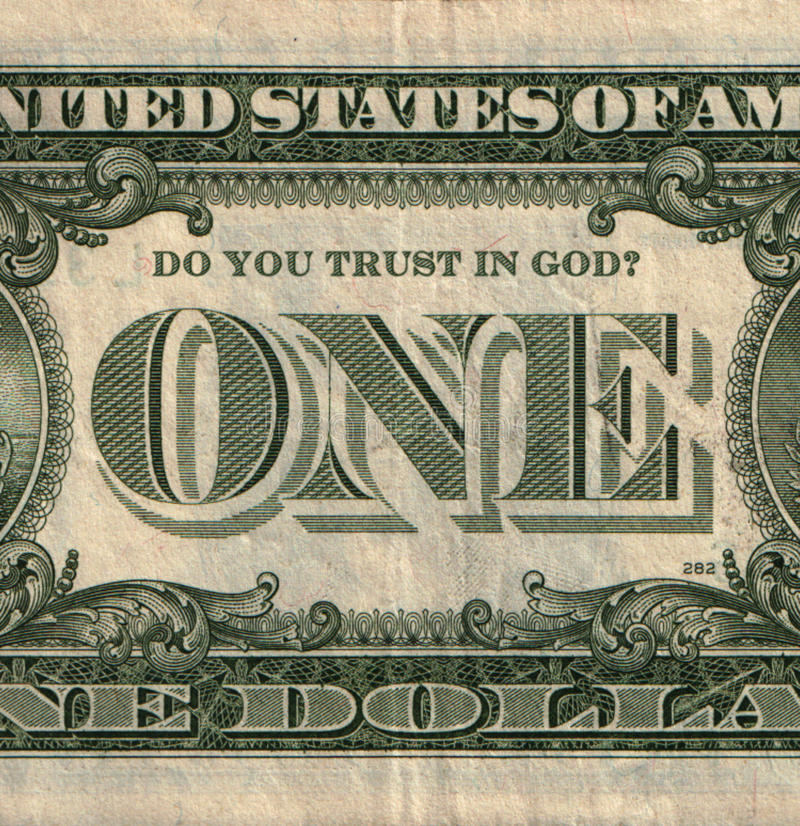 Download One U.S. Dollar Banknote With Question Stock Illustration - Image: 24149307