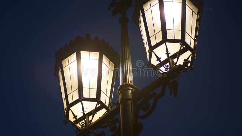 Light at night stock photo