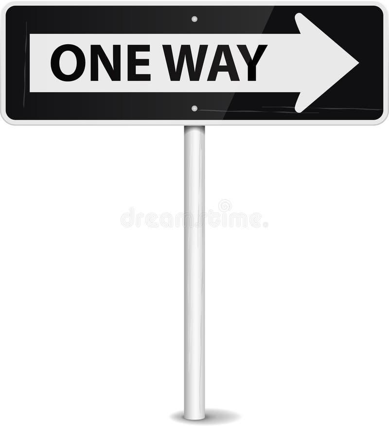 One way royalty free illustration