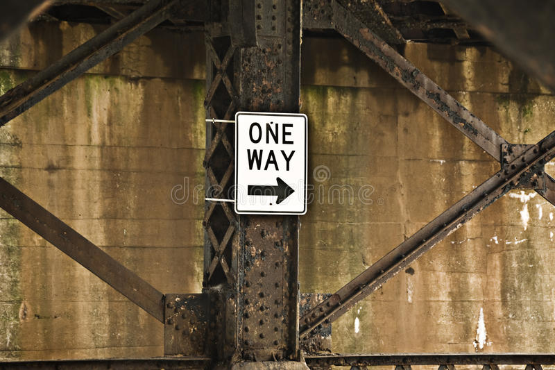 Download One Way stock image. Image of street, wall, beams, metal - 21271769