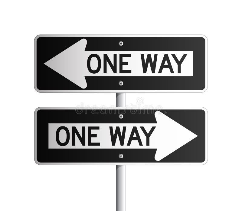 One way board 2 stock illustration
