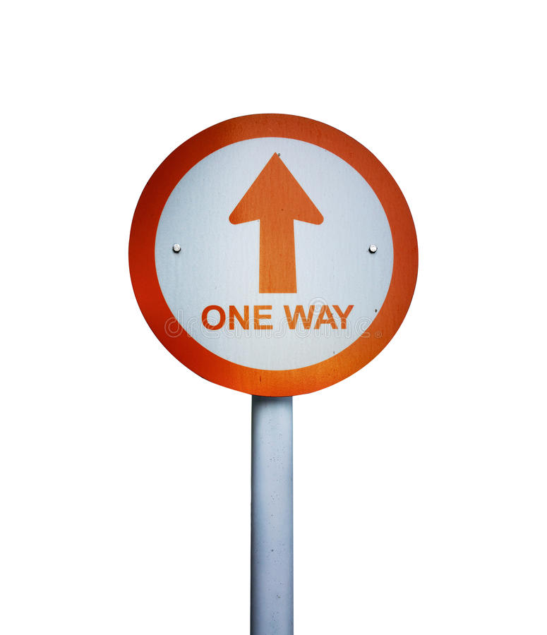 Free One Way Board Background Royalty Free Stock Photos - 77474728