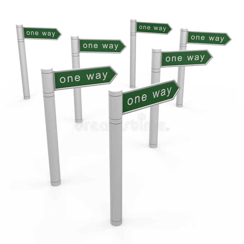 One Way Concept Royalty Free Stock Image