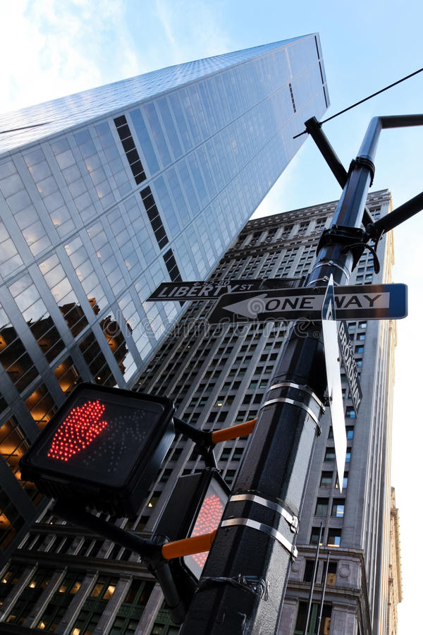 One-way de New York photographie stock libre de droits