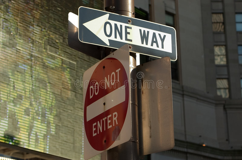 Download One way - Do Not Enter stock photo. Image of enter, arrow - 9638