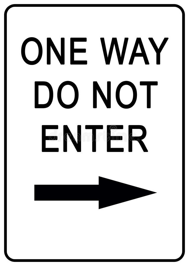 One way sign stock photography