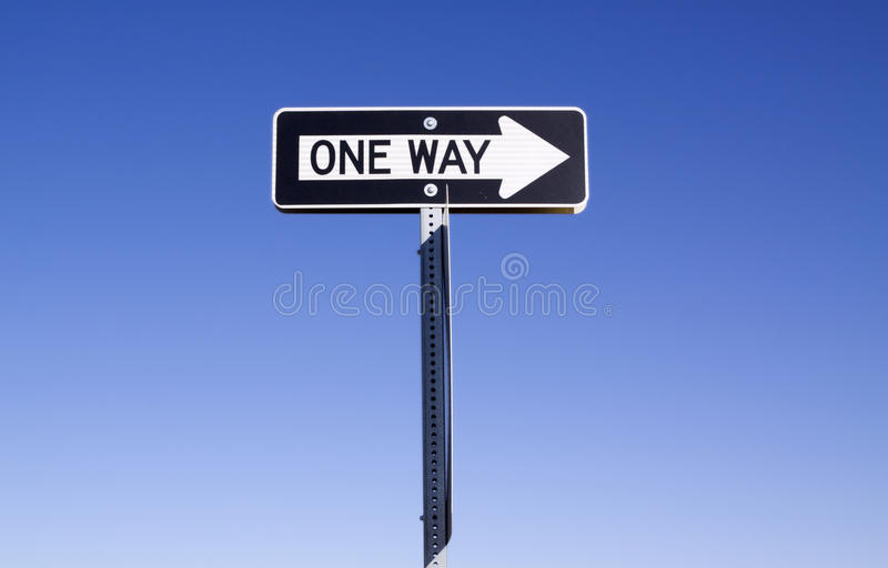 Download One way sign stock photo. Image of rule, turn, decision - 13825640