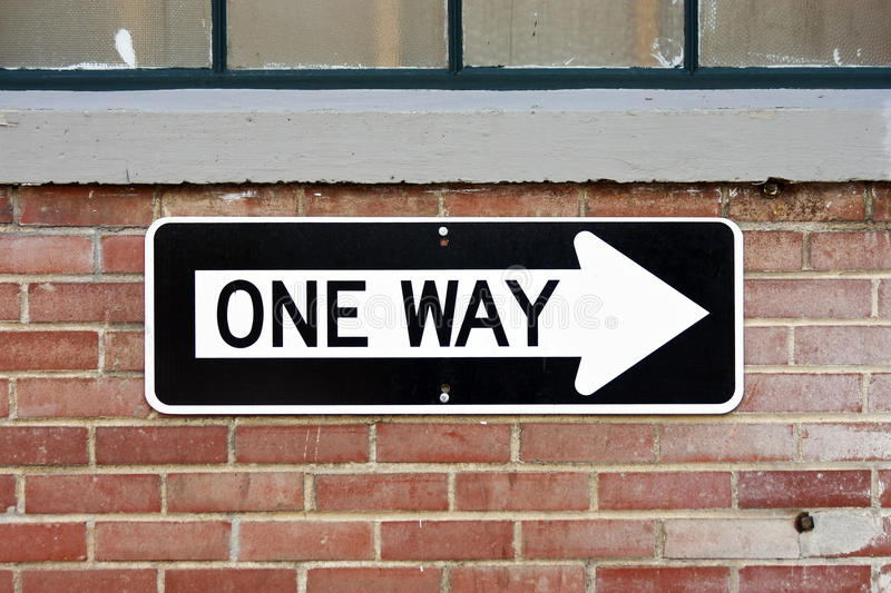 One Way Sign royalty free stock images