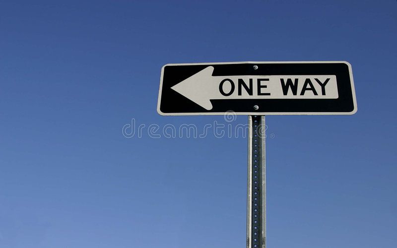 One Way Sign royalty free stock photography