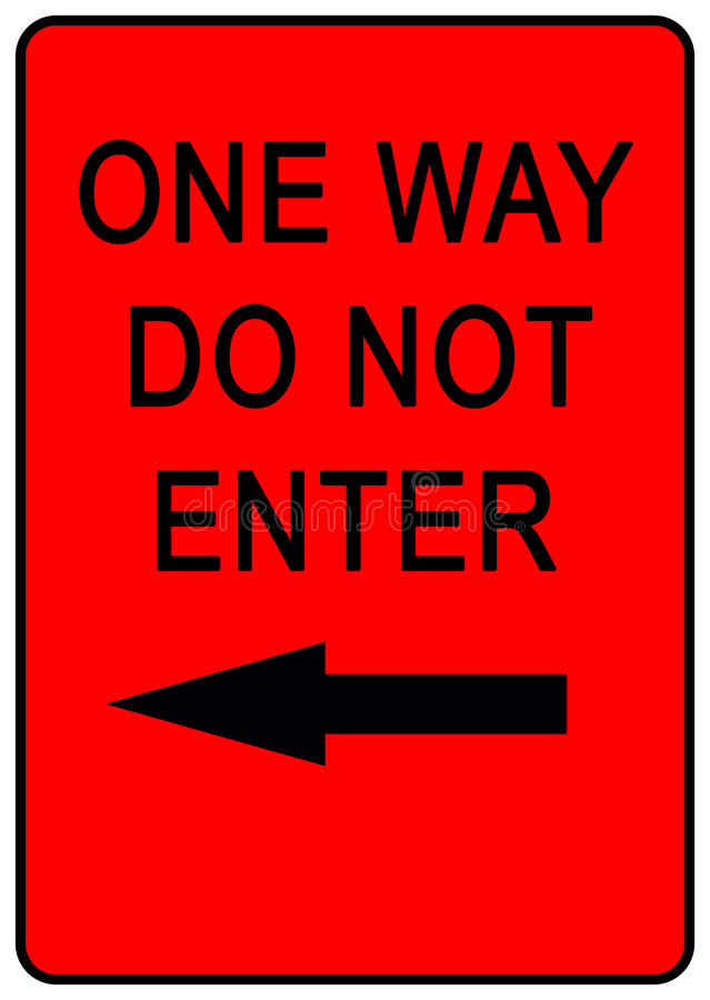 Free One Way Sign Royalty Free Stock Photography - 7077277
