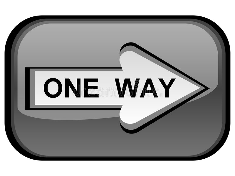 One way sign royalty free illustration