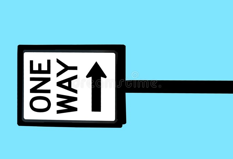 one way street sign stock image - image: 4046871