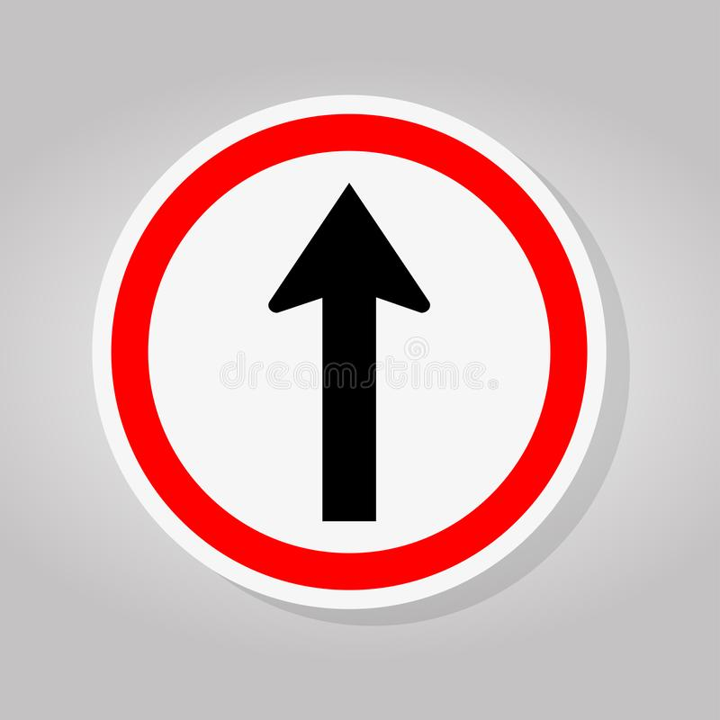 One Way Traffic Road Sign Isolate On White Background,Vector Illustration vector illustration