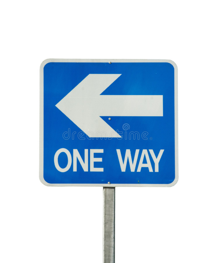 One way traffic sign isolated royalty free stock images