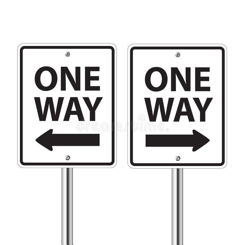 One way traffic sign vector illustration