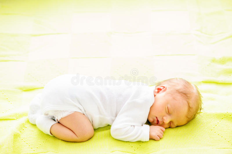 One week old newborn baby royalty free stock photography