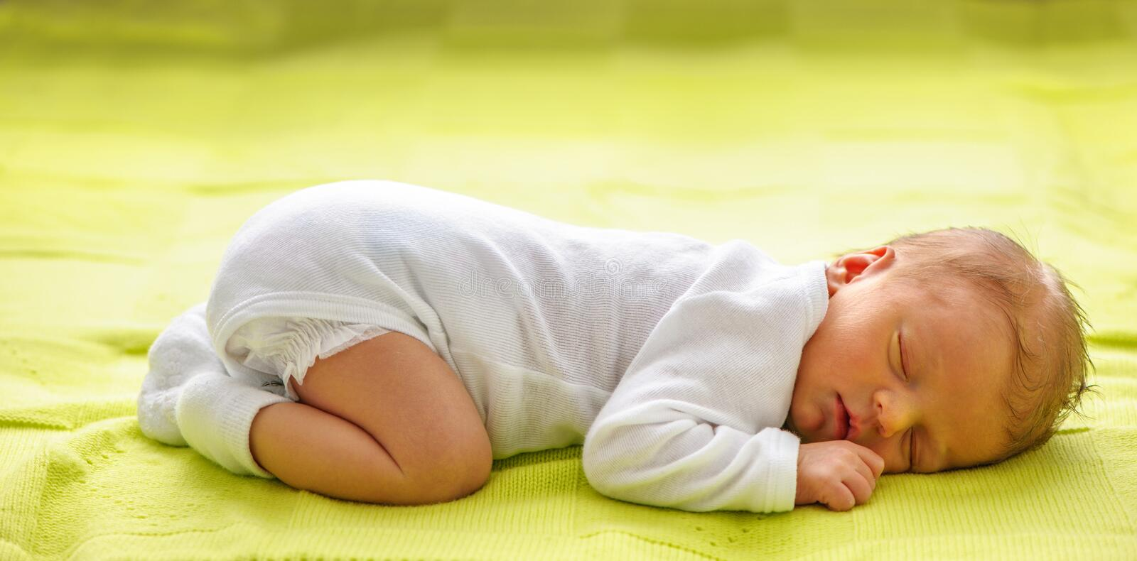 One week old newborn baby stock images