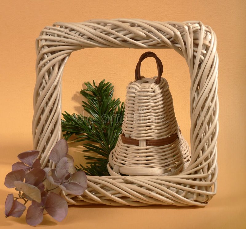 Free One Wicker Christmas Bell Royalty Free Stock Photo - 3643165