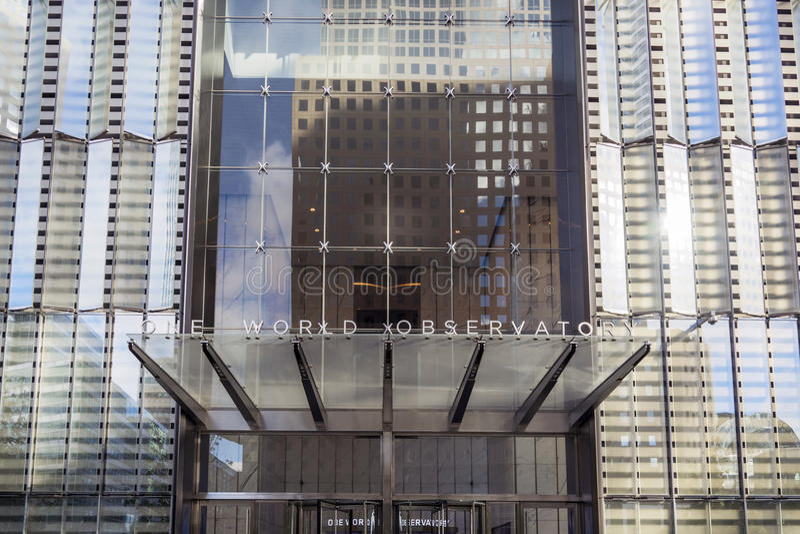 One World Trade Center Entrance stock photo