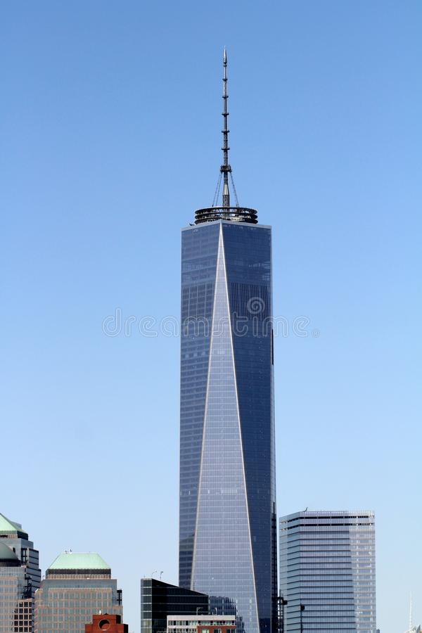 One World Trade Center. (formerly known as the Freedom Tower), in New York City, is the primary building of the new World Trade Center complex in Lower stock photography