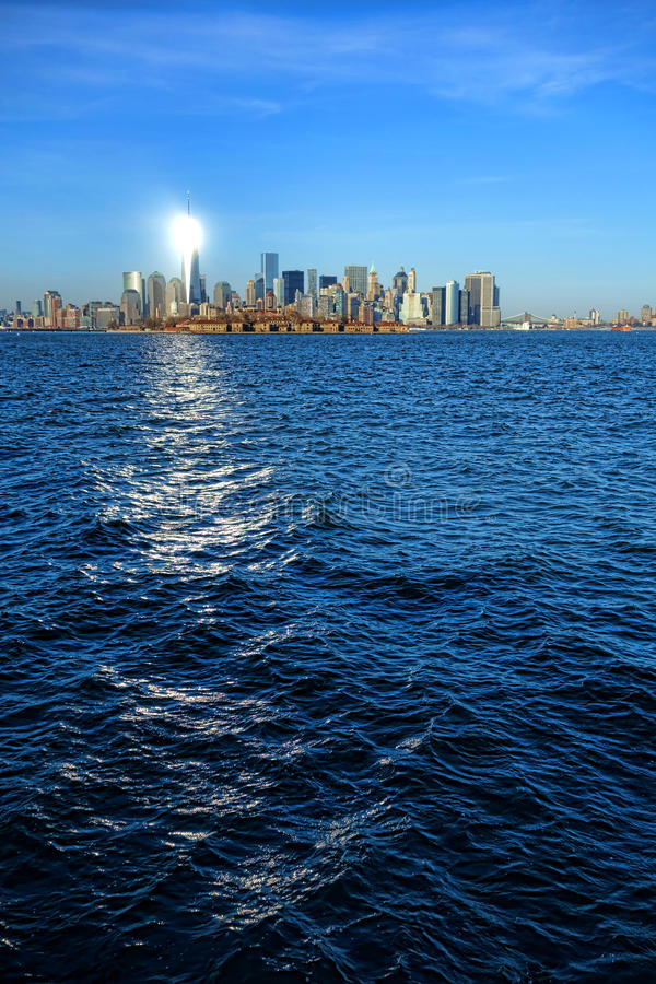 One World Trade Center Freedom Tower in New York royalty free stock photos