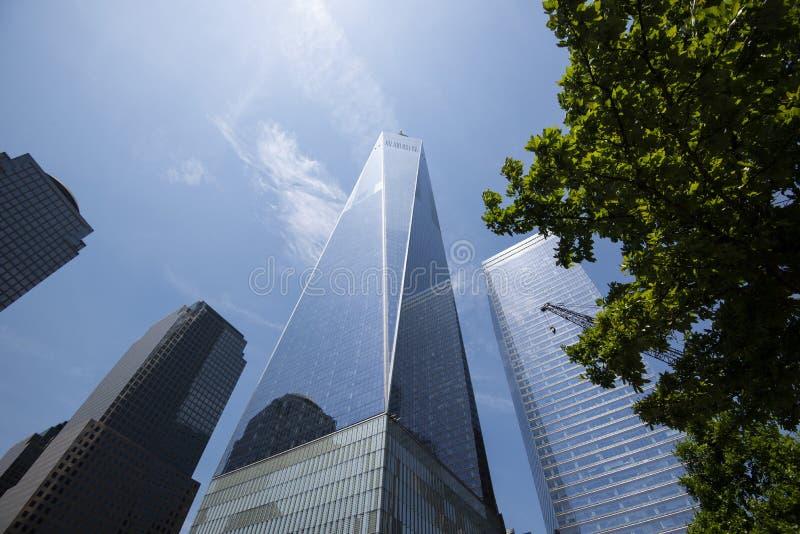 One World Trade Center Freedom Tower, New York City royaltyfria bilder