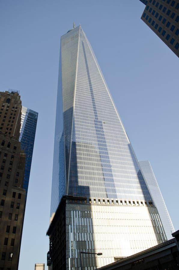 One world trade center. New York City - One World Trade Center skyscraper on in New York stock photography