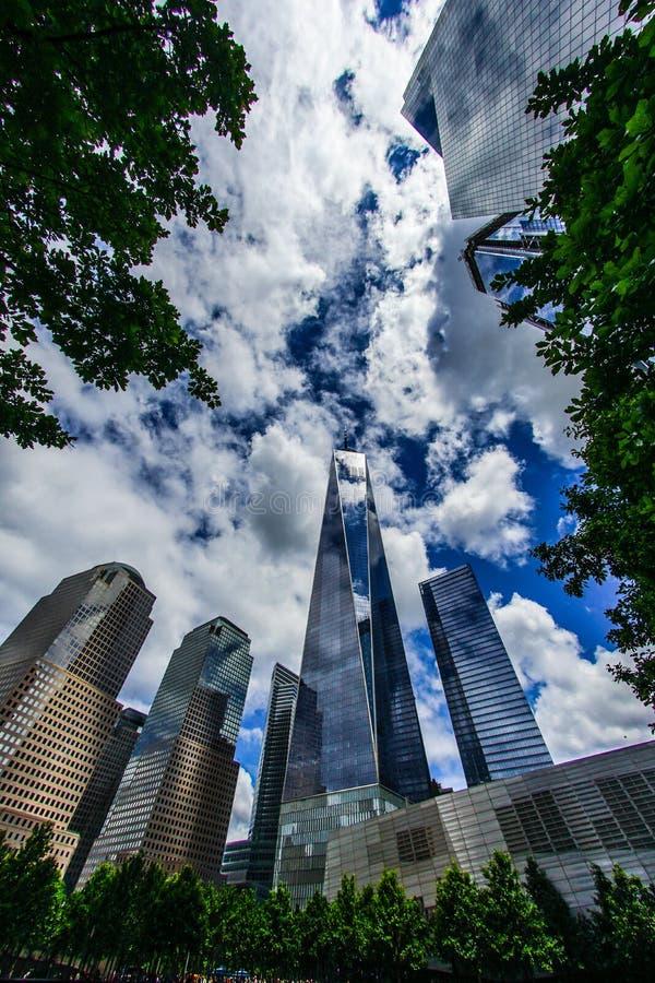 One World Trade Center New York Manhattan. Shooting location :  Manhattan, New York royalty free stock photo