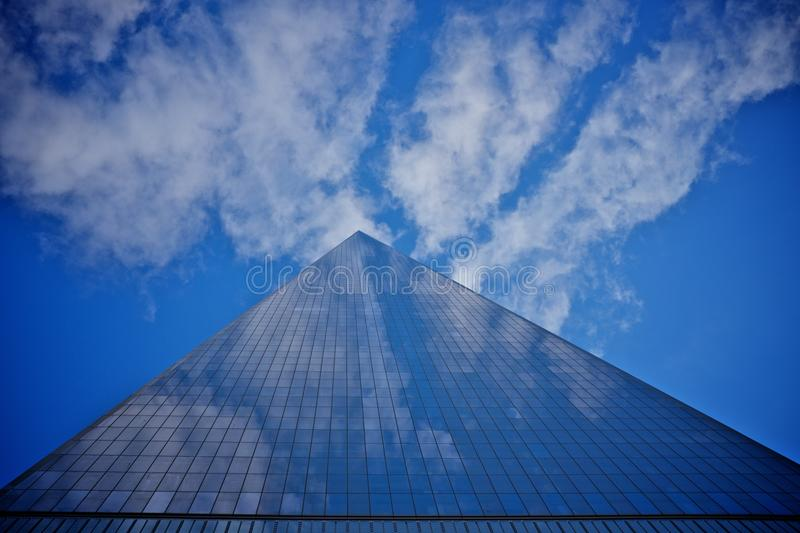 One world trade center. NEW YORK - november 2014: One World Trade Center (also known as the Freedom Tower) in New York City, New York. is the primary building of royalty free stock image