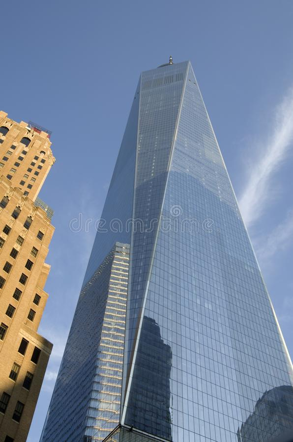 One World Trade Center. Is the main building of the rebuilt World Trade Center complex in Lower Manhattan, New York City. One WTC is the tallest building in the stock photos