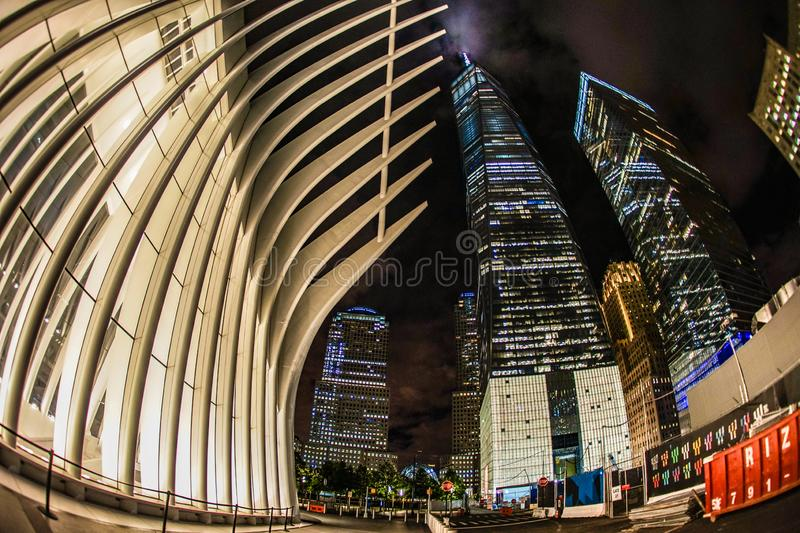 One World Trade Center and the Westfield World Trade Center. Shooting location :  Manhattan, New York royalty free stock photos