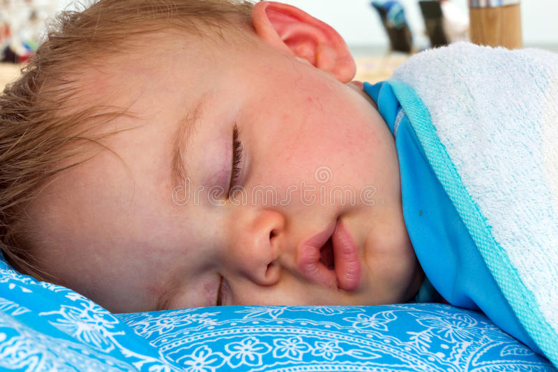 Download One year Nap stock image. Image of baby, girl, laying - 28902999