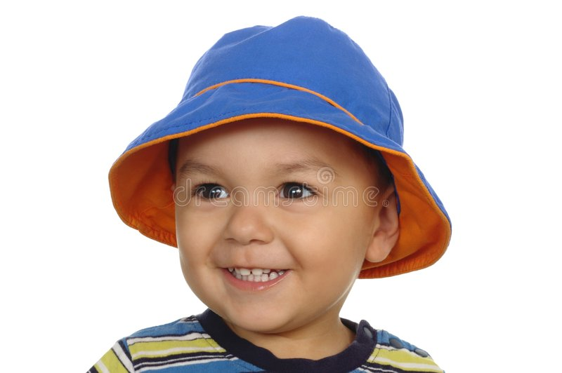 One-year-old boy portrait stock image