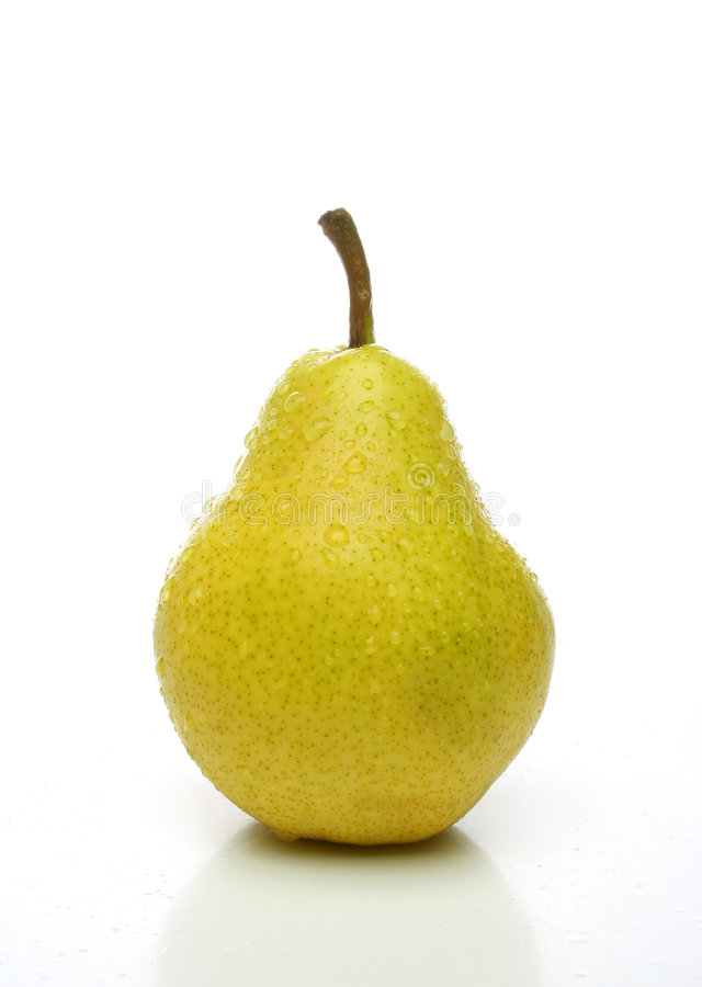 One yellow pear stock images