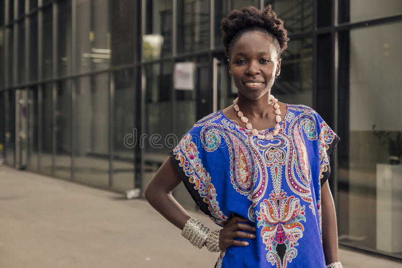 One, young adult, black african american woman, 20-29 years, che royalty free stock images