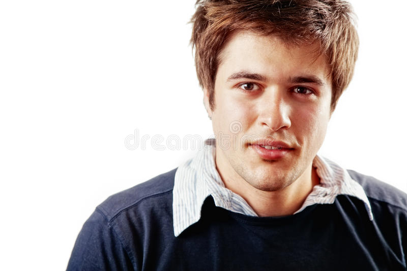 One young handsome male student isolated royalty free stock images