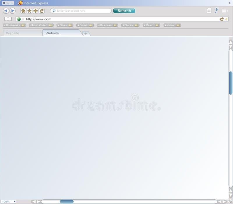 Onechte Browser van het Web stock illustratie