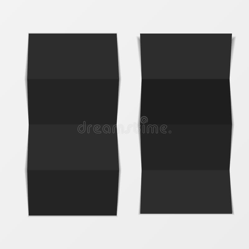 Onechte omhoog 3d pamfletspatie Hoogste mening Voor brochure, pamflet, pamflet, strooibiljetontwerp, catalogusmalplaatje, tijdsch stock illustratie