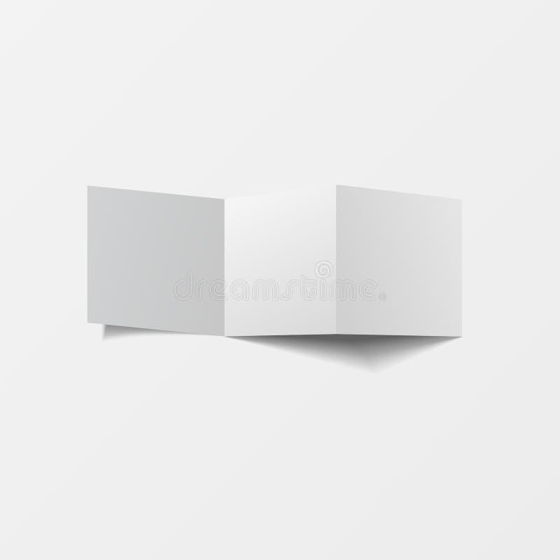 Onechte omhoog 3d pamfletspatie Hoogste mening Voor brochure, pamflet, pamflet, strooibiljetontwerp, catalogusmalplaatje, tijdsch royalty-vrije illustratie