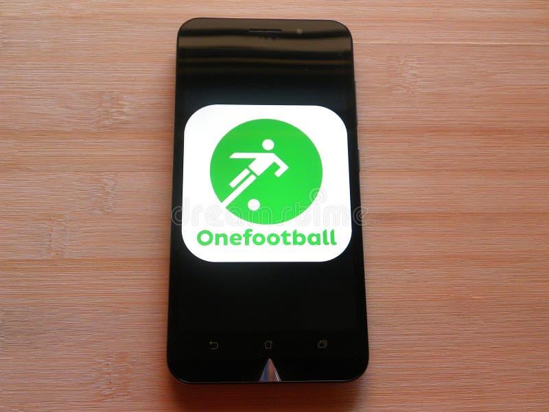Onefootball fotografia stock