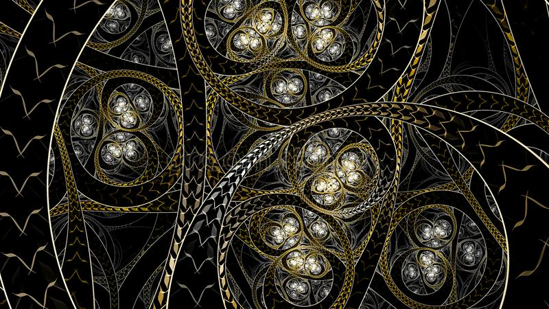 Oneindig Circural-stijlfractal art. stock foto