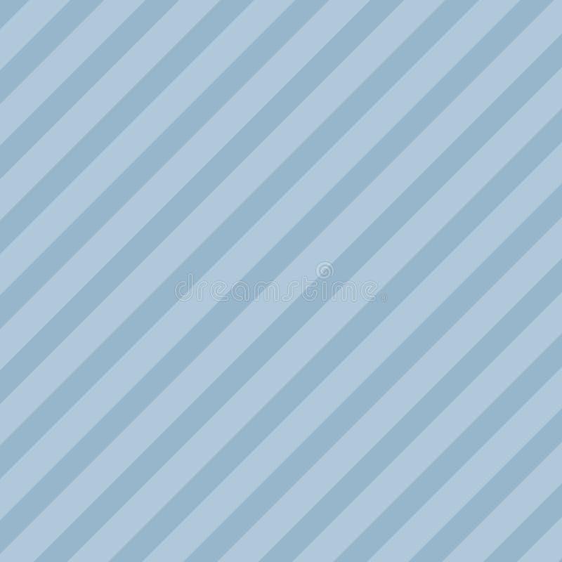 Oneindig Diagonaal Patroon van Donkere en Lichtblauwe Strepen Herhaling van Hellende Lijnen in Pastelkleurtonen creatief stock illustratie
