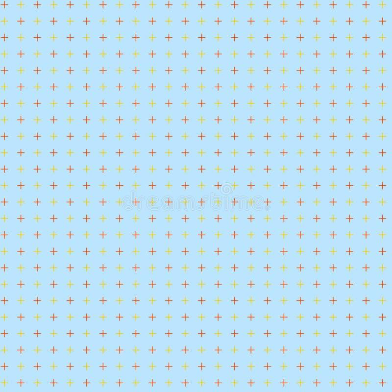 Oneindige Eindeloze Gerichte Twee Tone CrossStitch Plus Sign Pattern Creatief Idee Als achtergrond voor Digitale afbeeldingontwer stock illustratie
