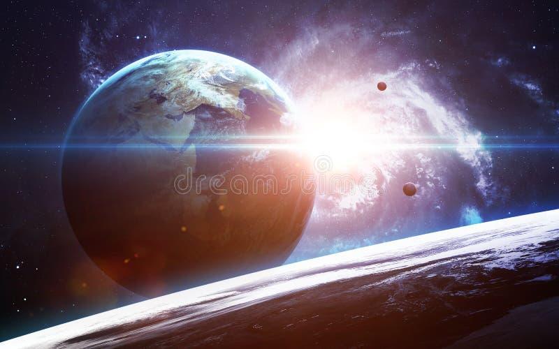 Oneindige ruimteachtergrond met nebulas en sterren Dit die beeldelementen door NASA worden geleverd royalty-vrije stock afbeeldingen