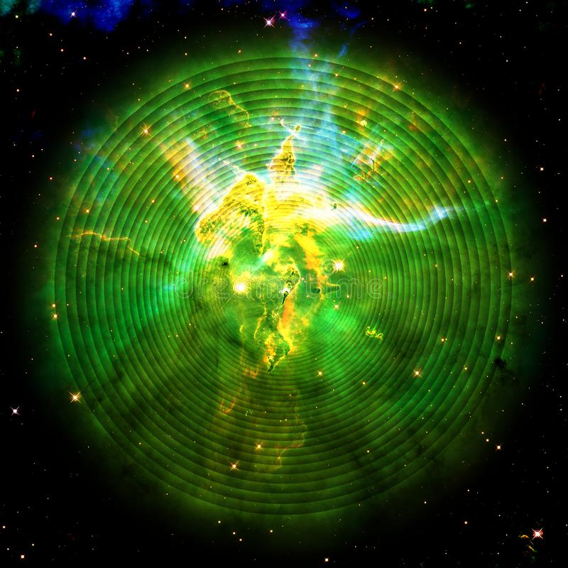 Oneindige Spiraal in Kosmische ruimte Carina Nebula | Fractal Art Background Wallpaper With Elements van NASA/ESO stock foto's
